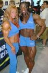 Cathy LeFrancois (L) - Iris Kyle (R)
